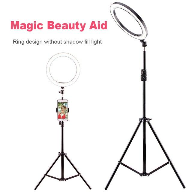 LEDGLE USB LED Floor Lamp Phone Dimmable lampara 16CM 26CM Ring Light High Tripod luminaria standing floor lamps for living room Home Decor & Toys