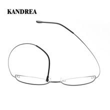 KANDREA okulary optyczne ramki dla kobiet beta-titanium okulary moda okulary blokujące niebieskie światło okulary okulary korekcyjne okulary tanie tanio WOMEN Tytanu Stałe HGT003 FRAMES Okulary akcesoria 52mm 40mm 18mm 140mm 135mm