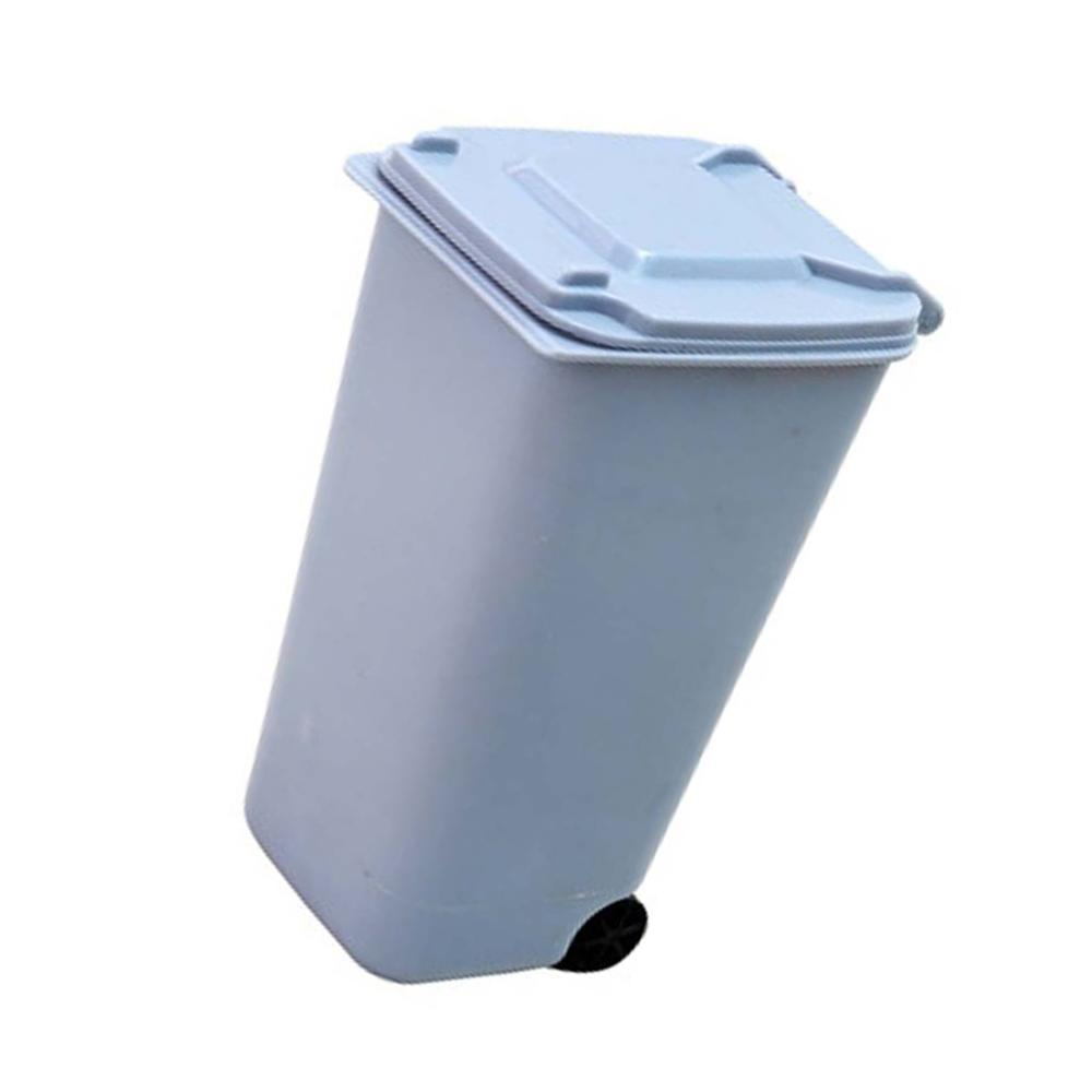 Mini Wheelie Trash Can Storage Bin Desktop Organizer Pen Pencil Cup Creative Pen Holders FANTASTIC