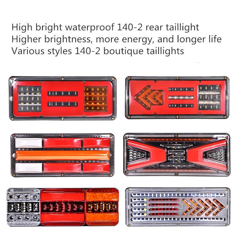 12v/24v led luz da cauda reboque caminhão destaque à prova dwaterproof água luz de advertência fluxo luz de sinal de estacionamento freio invertendo tráfego luz