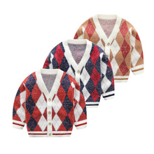 Boys Sweaters 2019 Winter New Baby Boy Cardigan Sweater Fashion Childrens Autumn V-neck Long Sleeve Clothes