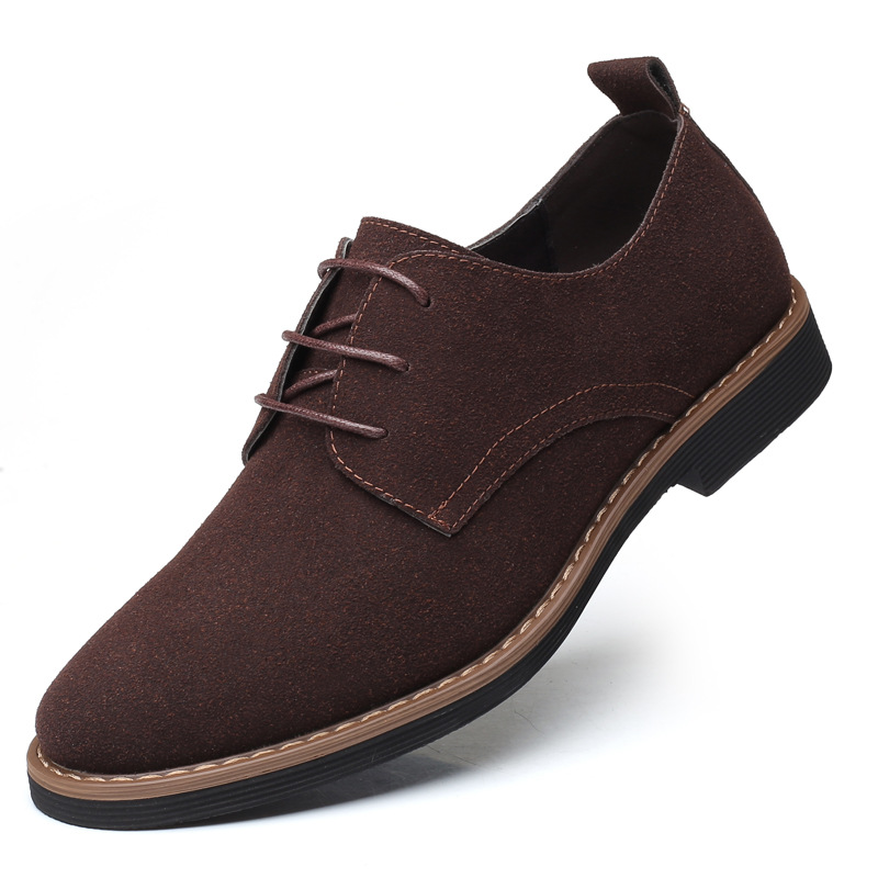 Brand Driving Flat Oxford Shoes Comfortable England Nubuck Genuine   Leather   Cow   Suede   Breathable Shoes Mens Casual Shoes Slip On