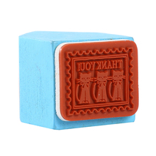 Creative Cartoon Cat Pattern Seal Wooden Stamps Blue Small Household Decor Seal Scrapbooking Standard Stamp 3*4cm