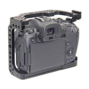 Image 2 - Schutzhülle Kamera Käfig für Canon EOS R w/ Coldshoe 3/8 1/4 Gewinde Löcher Arca Swiss Schnell Release Platte kamera Zubehör