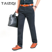 TAIZIQI Casual Pants military pants brand high quality cotton Trousers Men soft business style handsome cargo men  7M22