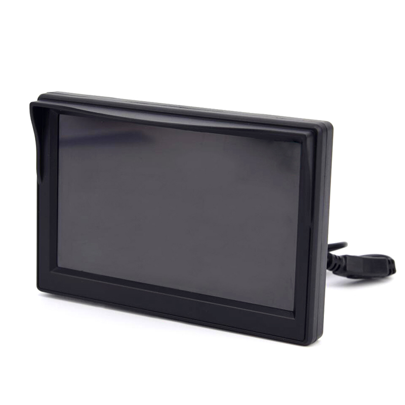 Monitor de segurança automotivo, alta resolução, 5 polegadas, tft, lcd, cor hd, câmera reversa, monitor de backup, para estacionamento câmera fotográfica para câmera