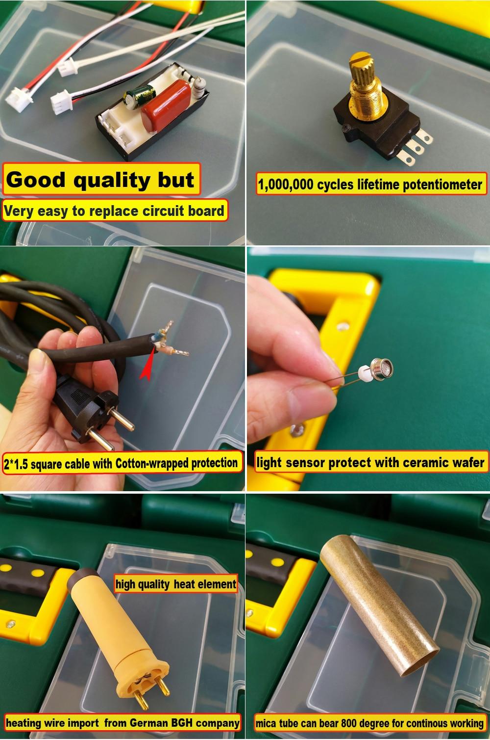 Pistola termica per saldatura di plastica a saldare ad aria calda - Attrezzatura per saldare - Fotografia 6