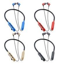 T27 Drahtlose Kopfhörer Mit Mic Bluetooth 5,0 Kopfhörer Stereo Bass Magnetische Headset Unterstützung TF/SD Karte Sport Lauf Freisprecheinrichtung F