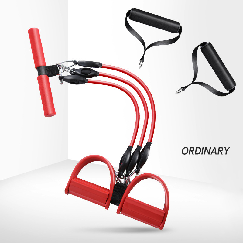 Купить с кэшбэком Multi Function Tension Rope Strong Fitness Resistance Band Yoga Sport Fitness Equipment Sit-Up Pull Ropes Pedal Exerciser Unisex