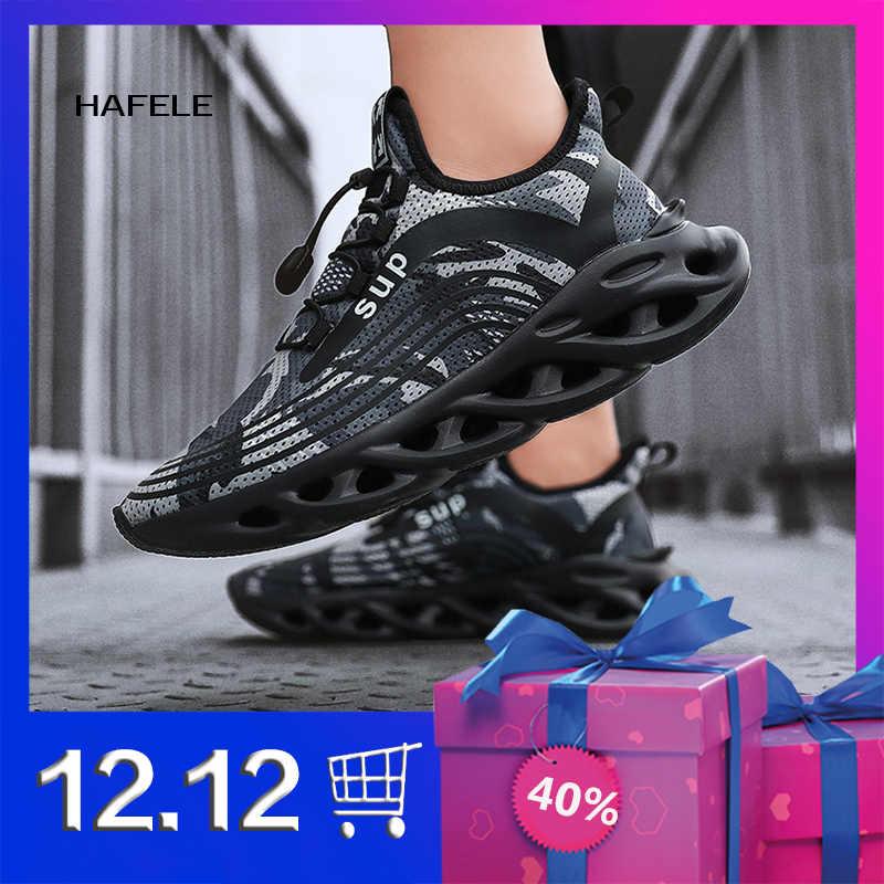 Мужская Беговая спортивная обувь для бега уличная прогулочная дышащая на
