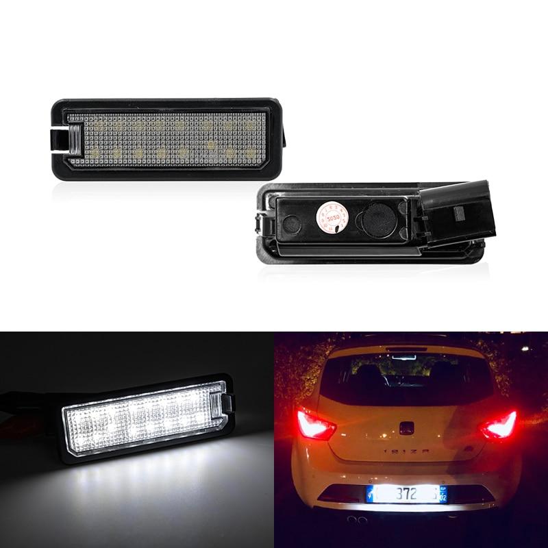 Светодиодная лампа для номерного знака SEAT Ibiza FR Cupra MK4 6J Altea XL SMD, без ошибок