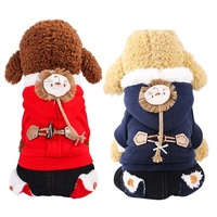 Winter Pet Dog Cotton Clothes Warm Dog Coat For Small Medium Dogs Clothing Puppy Hoodies Cute Jumpsuit Chihuahua
