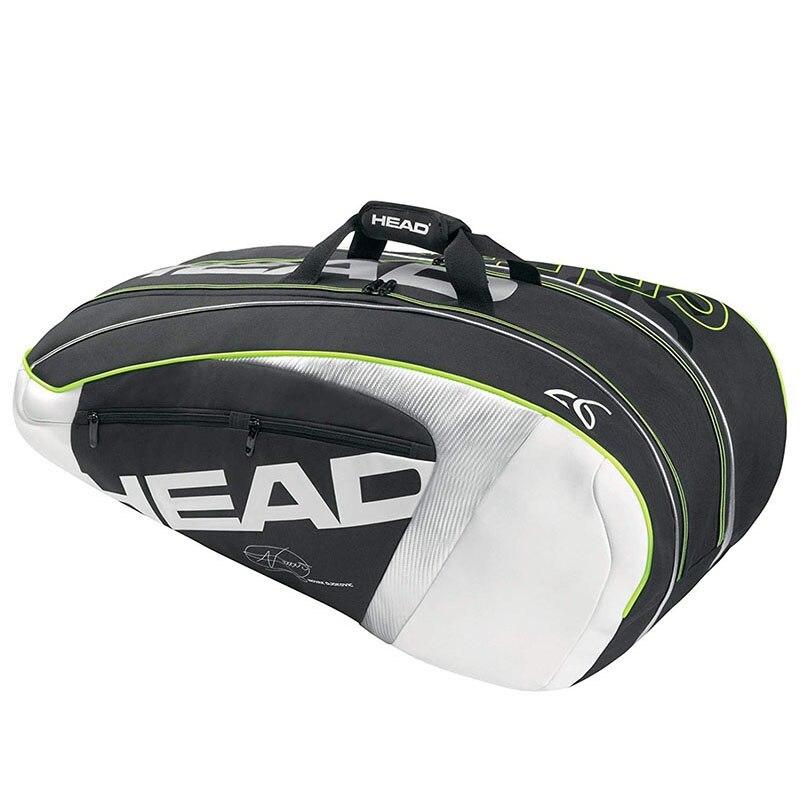 Sac Original de raquettes de Tennis de tête Max pour 9 raquettes de Tennis sac à dos de sport masculin professionnel grand avec Signature Djokovic