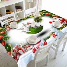 Meijuner, новогодняя, Рождественская скатерть, кухонный обеденный стол, украшения для дома, прямоугольные вечерние скатерти, рождественские украшения