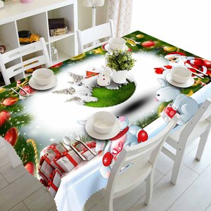 Meijuner New Year Christmas Tablecloth Kitchen Dining Table Decorations Home Rectangular Party Table Covers Christmas Ornaments(China)
