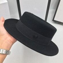 כוכב עם קצר פסק צמר שטוח אפס מקום כובע homburg פנאי ג וקר שמש כובעי עבור גברים ונשים נסיעות מגבעות לבד טמפרמנט