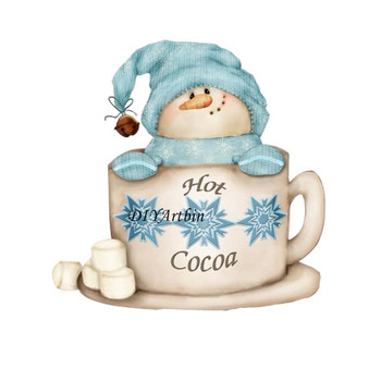 2020 New Christmas Snowman Hot Teacup Cocoa Metal Frame Dies For Card Making Embossing Paper Craft - discount item  20% OFF Arts,Crafts & Sewing