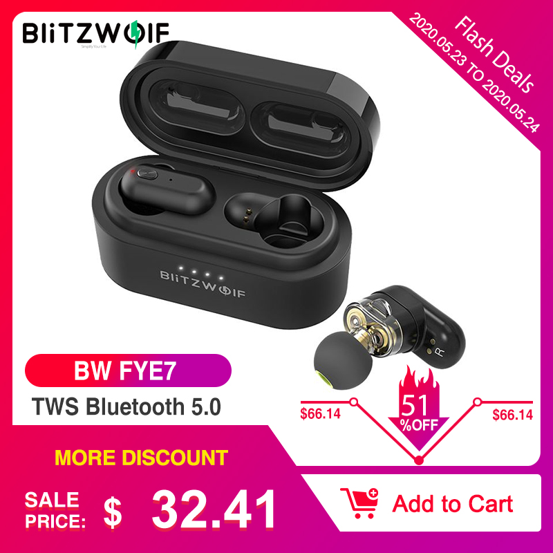 [Dual Dynamic Driver] Blitzwolf BW FYE7 TWS Bluetooth 5.0 In-ear Wireless Earphone Bass Stereo Bilateral Call Earbuds Hifi Music