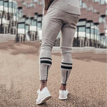 grey men sport pants running pants
