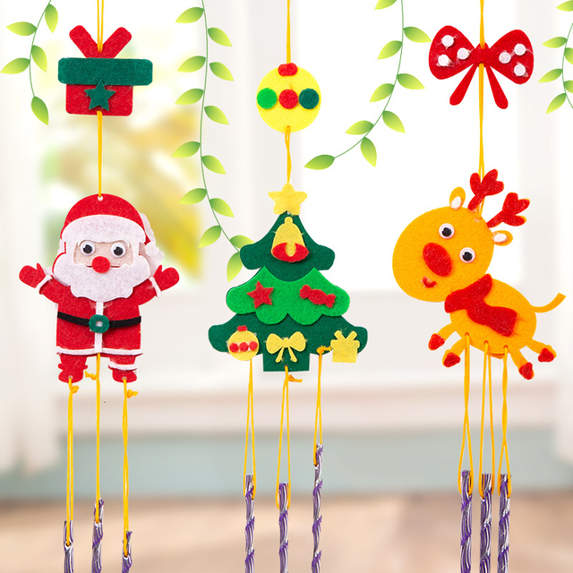 3pcs DIY EVA Handicraft Children Toys 3D Wind Chimes Girl Gift Toy Windbell Hangings Stickers Kids Arts Crafts Decoration