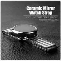 Correa de reloj de cerámica Universal de 22mm para Stratos Amazfit 2 GTR 47mm correa de reloj para Huawei GT Watch pulsera