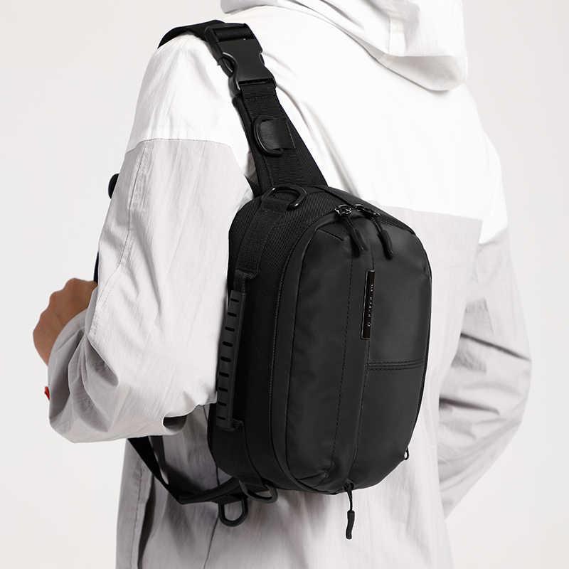 Bolsa de cintura OZUKO impermeable para hombre, mochila de pecho para hombre, para deportes al aire libre, bandolera, riñonera de viaje corta para bolsa de teléfono