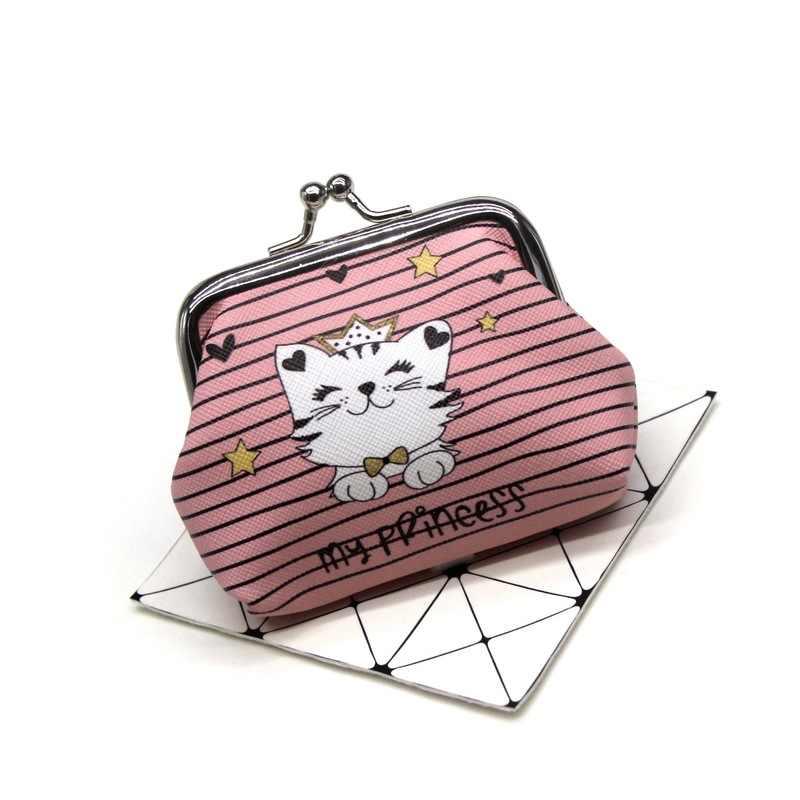 1pc Neue Cartoon Katze Münze Geldbörsen Frauen Mini Brieftaschen Kinder Kupplung Geld Taschen Weibliche Beutel Haspe Ändern Geldbörse Nette mädchen Null Brieftasche