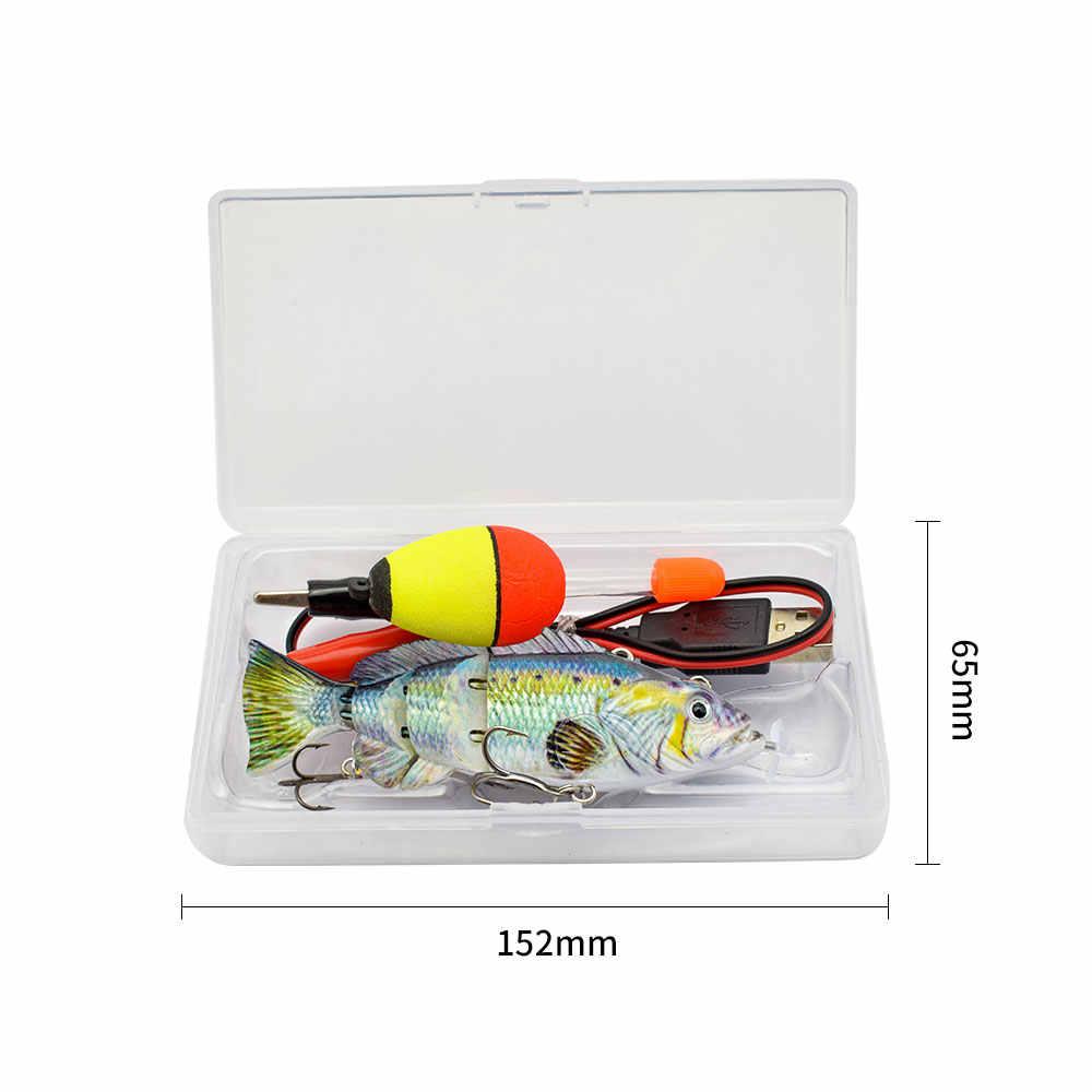 10cm NEUE kleine Robotic Swimming Lockt Angeln Auto Elektrische Locken Köder Wobbler Für Swimbait USB Aufladbare Blinkende LED licht