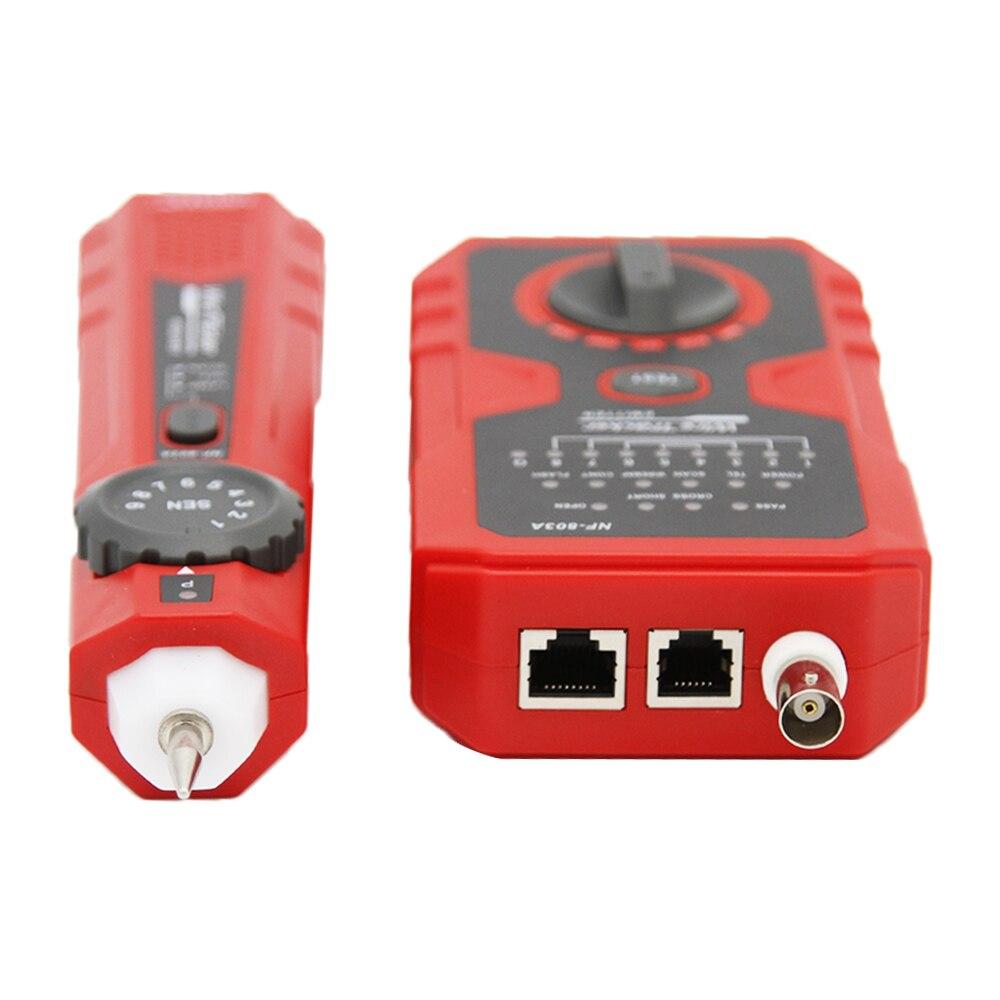 Testeur de câble réseau NF-803A 600m RJ11 RJ45 100m ligne de câble BNC pour câble Ethernet LAN outil de test de fil de téléphone fixe