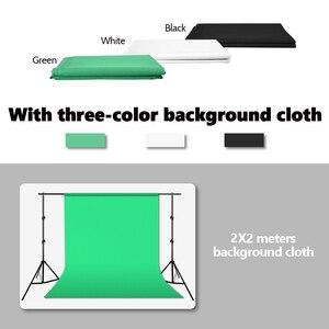 Image 2 - ZUOCHEN фотостудия фон Chroma Key Черный Белый Зеленый экран Фон Стенд Комплект с 2 м студия фон поддержка Комплект