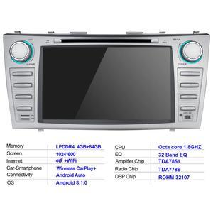 "Image 5 - 8 ""2 DIN Android รถวิทยุสเตอริโอ GPS หน่วย CASSETTE สำหรับ Toyota Camry 2011 2007 มัลติมีเดียไม่มีดีวีดีพวงมาลัย OBD2"