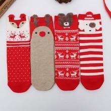 Xmas Womens Socks Casual Winter Christmas Animal Cartoon Pattern Sock Cotton Keep Warm Female calcetines de navidad