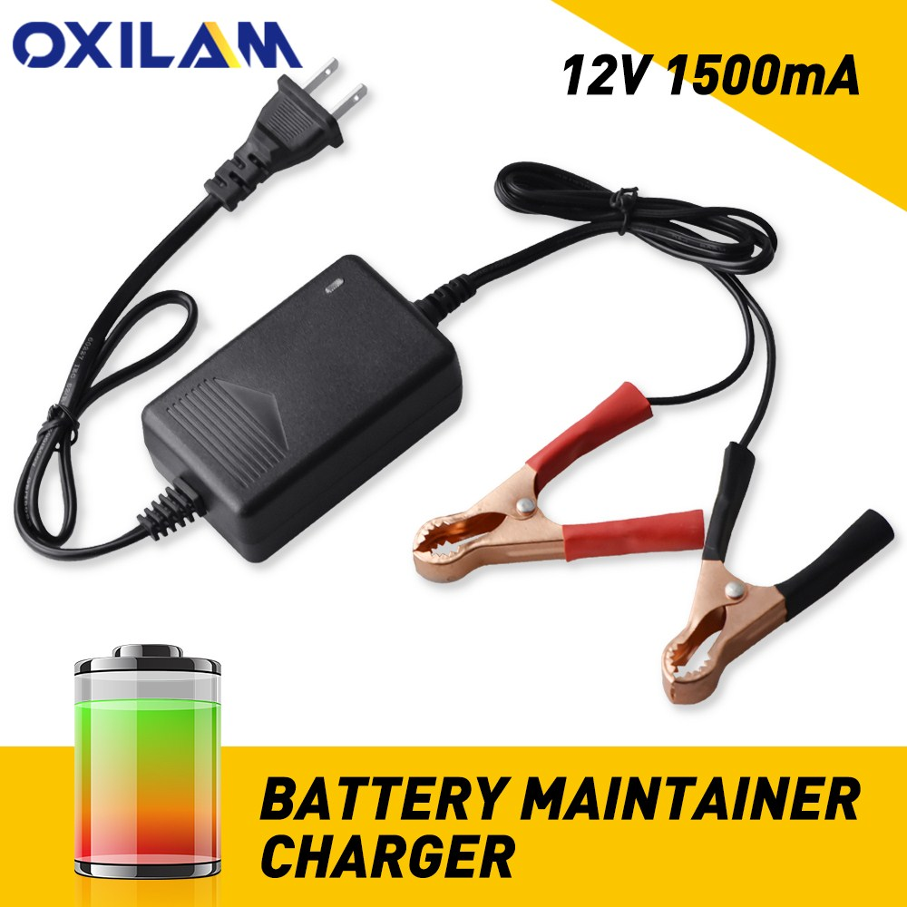 <font><b>Car</b></font> <font><b>Charger</b></font> 12V Portable Volt Automatic <font><b>Car</b></font> <font><b>Battery</b></font> Float <font><b>Trickle</b></font> <font><b>Charger</b></font> <font><b>Car</b></font> Maintainer Boat Direct AC Charge Motorcycle RV image