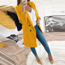 Women Artificial Wool Elegant Blend Coat Slim Plus Size Wint