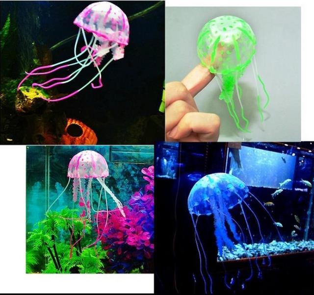 Artificial Glowing Aquarium Jellyfish Ornament Decor Glowing Effect Fish Tank Decoration Aquatic Pet Supplies Home Accessories 2