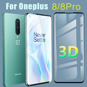 Protective Glass for Oneplus 8 Pro Screen Protector Oneplus8pro 3D Tempered Glas Oneplus8 Pro8 Tremp 1Plus One Plus 8Pro Film(China)