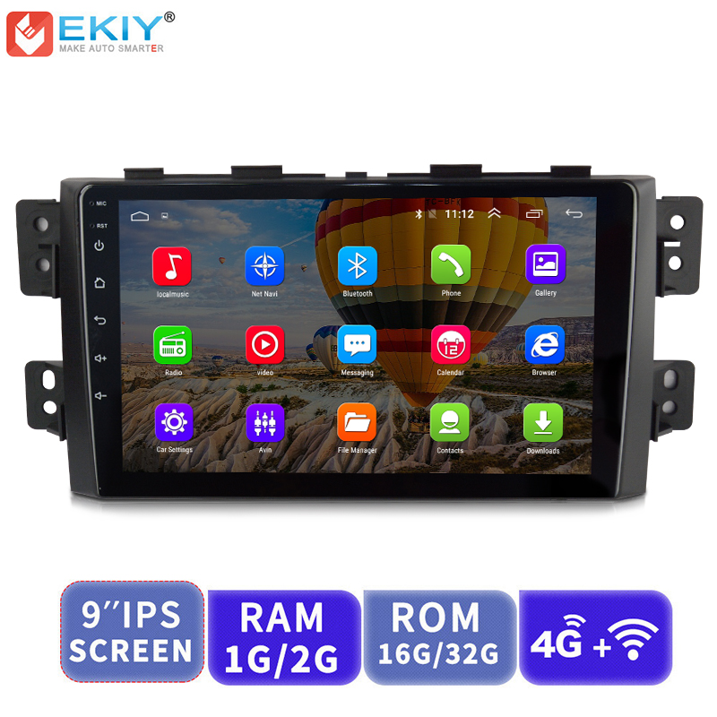 EKIY 9'' IPS Android Not <font><b>2</b></font> <font><b>Din</b></font> Car Multimedia Player <font><b>AutoRadio</b></font> Stereo Audio For Kia Borrego Mohave 2008-2012 <font><b>GPS</b></font> Navigation image
