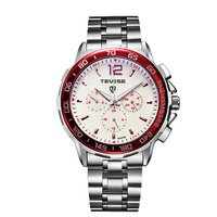 Multifunctional 6 Pin Men Automatic Mechanics Round Dial Wrist Watch Fashionable Male Casual Stainless Steel Wristwatches