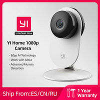 YI 1080p telecamera Wifi videocamera domestica videocamere intelligenti con Montion rileva telecamera Ip protezione di sicurezza Mini videocamera Pet Cat Dog Cam