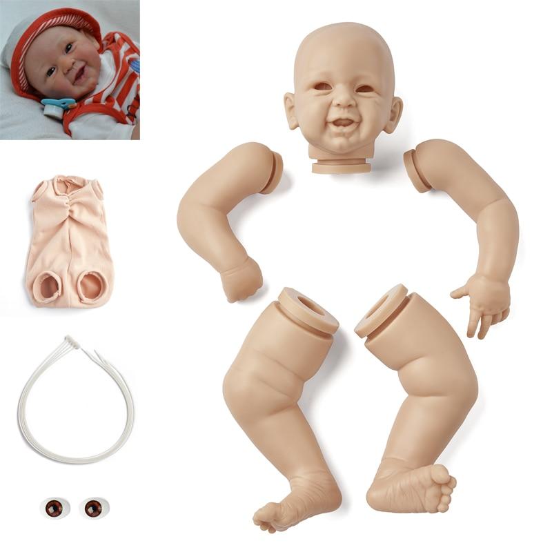 Rbg bebe kit renascer 21 polegadas kit de vinil bebê renascer phoenix unpainted inacabado peças boneca diy em branco reborn boneca kit
