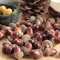 Горячая распродажа 10 шт. искусственные реалистичные моделирование маленький желудь растения Украшение поддельные фрукты, Осенние домашни...