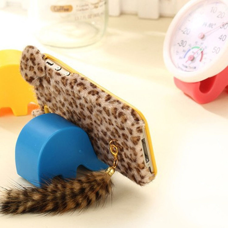 Universal Smartphone Cell Phone Holder Mount Eco-friendly Plastic Stable Elephant Holder For Chopstick Spoon Pen Card For Pen
