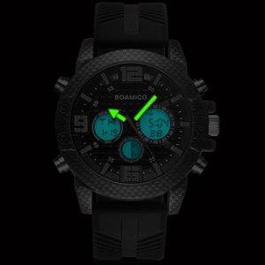 Image 3 - BOAMIGO 고급 브랜드 시계 남자 스포츠 시계 LED 디지털 아날로그 석영 남자 군사 손목 시계 시계 남자 Relogio Masculino