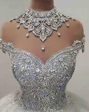 Vestidos de novia сверкают 2021 свадебное платье с высоким воротом