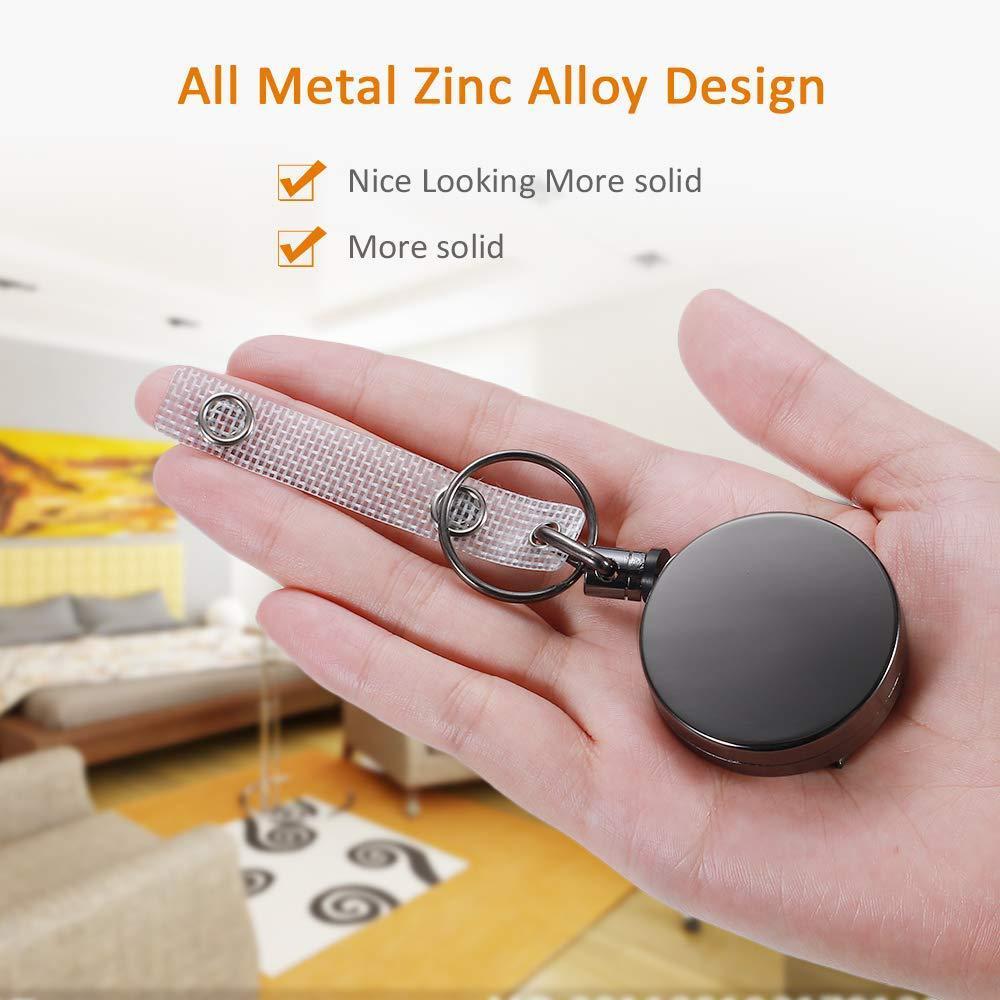 Retractable Alloy Steel Wire Rope Elastic Keychains Keyring Sporty  Alarm Keychain Anti-lost Telescopic Keys Ring Trinket