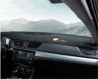 Skoda Octavia 2015-2019 자동차 스타일링을위한 중앙 제어 계기판 가죽 플러시 그늘 절연 라이트 패드
