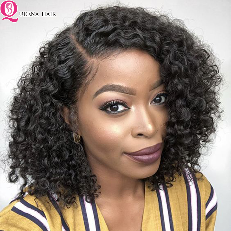 Cheap Short Bob Lace Front Wig Kinky Curly Human Hair Wigs For Black Women 13x6/360 Brazilian Curly Lace Wig Pre Plucked Remy