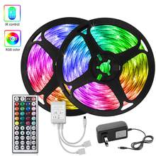 Bluetooth LED Strip Lights RGB 5050 Flexible Ribbon Color changing LED Light 5M Tape Diode DC 12V Control For Home Room decora