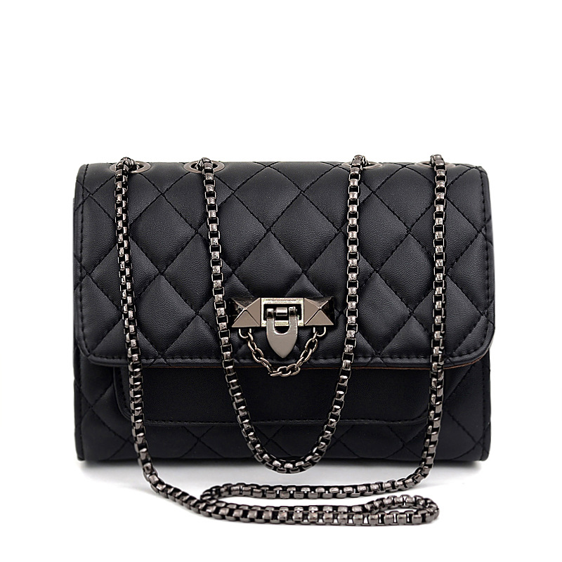 Women Messenger Bags For Female High Quality PU Leather Luxury Hand Bag Ladies Chain Metal Buckle Shoulder Bag Sac A Main