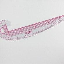 Regla de ropa de costura métrica de curva francesa de plástico, medida para confección de vestidos, regla de clasificación a medida, accesorios para fabricación de patrones de curvas